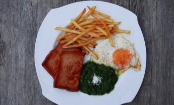 Яйца со шпинатом. Простой рецепт вкусного завтрака