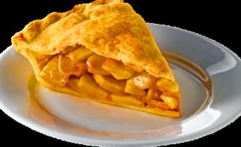 Тарт из манго и яблок в тесте фило