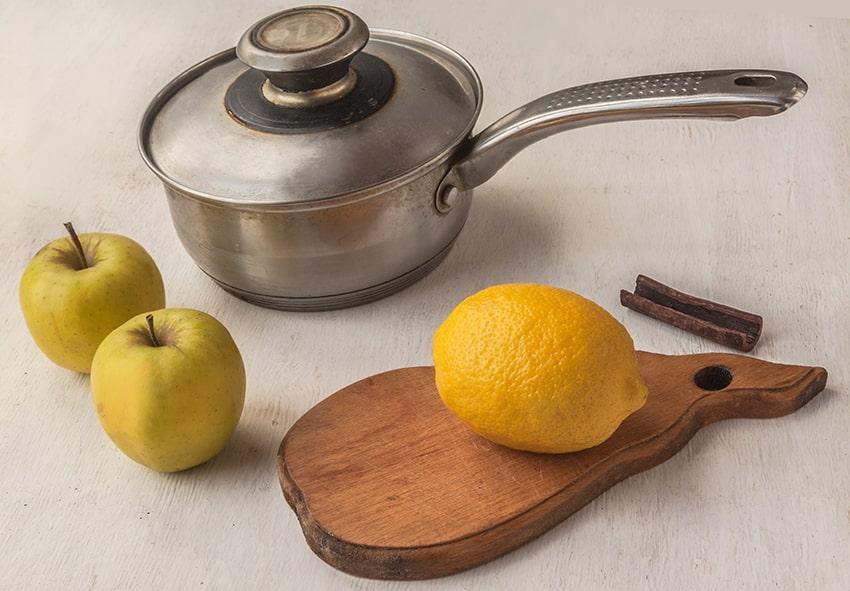 Отвар из яблок и лимона фото описание