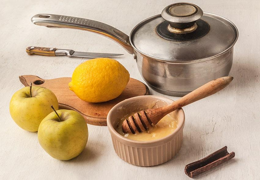 Приготовление отвара из яблок и лимона фото описание