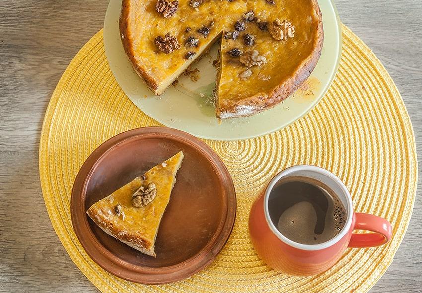Пиріг з гарбуза з горіхами фото опис